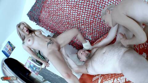 2 blonds and a cock photo 1