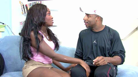 Ebony goddess gets a big cock and a ...photo 1