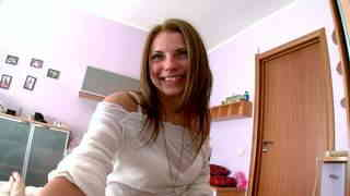 Cute and young russian teen fu