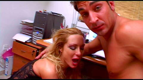 Blond MILF slut fucking in the office ...photo 1