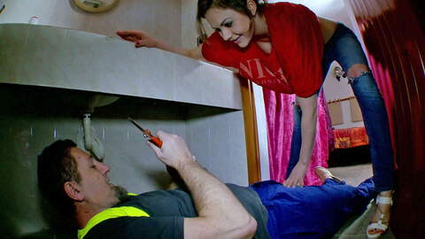 The milf is fucked by the plumber photo 3